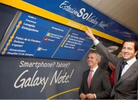 Consejeros de turno haciéndose la foto en la Sol Galaxy Note