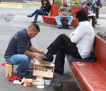 Limpiabotas en las calles de México D.F.